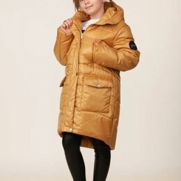 """Пальто - Полупальто зимнее для девочки """"Белла"""", цвет золотой, арт. 05121-8, размер 38-146, 0"""