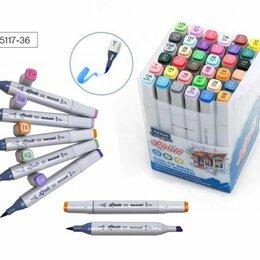 Письменные и чертежные принадлежности - Набор маркеров для скетчинга 36цв. M-15117-36 двустор. LINDO основные цвета, 0