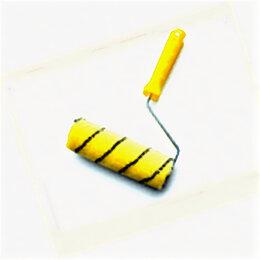 """Киндер-сюрприз - Валик """"Гламурный попугайчик"""" ,100 мм, бюгель 6 мм , полиакрил желтый с черной..., 0"""