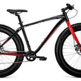 """Велосипеды - Фэт-байк Bizon 26 черный/красный 18"""" рама (2021), 0"""