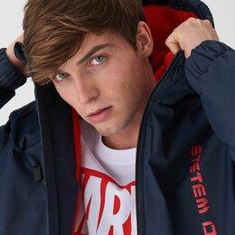 Куртки - Парка с Принтом теплая Новая флисовая подкладка, 0