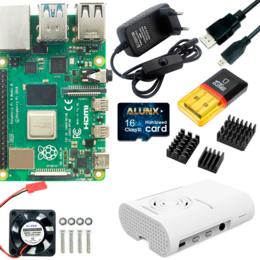 Материнские платы - Стартовый набор Raspberry Pi 4 4 Гб, 0