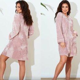 Домашняя одежда - Женский бархатный халат р-ры 46-58, 0