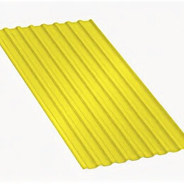 Кровля и водосток - Профнастил МП20 A Полиэстер 0,7 мм RAL 1018 Цинково-желтый, 0