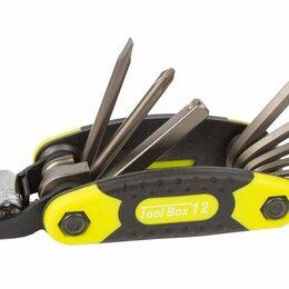 Наборы инструментов и оснастки - Набор AUTHOR унив. ToolBox 12 складн. шестигр., +/- отв, боксы никел. неон-жел, 0