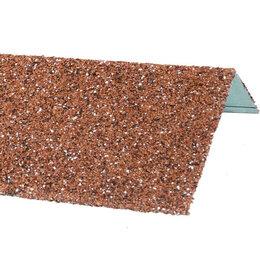 Окна - Наличник оконный металлический HAUBERK Красный 50*100*1250мм, 0