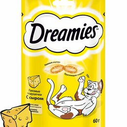 Лакомства  - Лакомство для кошек Dreamies, 60 г, сыр, 0