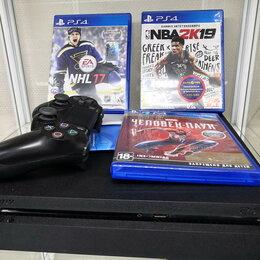 Игровые приставки - Игровая приставка Sony Playstation 4 slim 1TB, 0