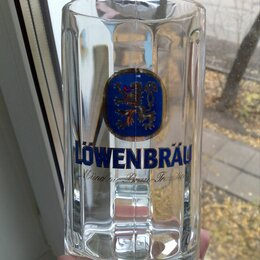 """Кружки, блюдца и пары - Пивная кружка """"Löwenbräu"""", новая, 0"""