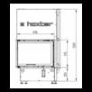 Каминная топка Hoxter ECKA 67/45/51h адаптер под аккумулятивные кольца по цене 418519₽ - Камины и печи, фото 2
