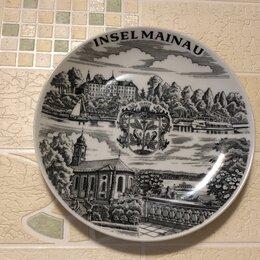 Декоративная посуда - Сувенирная настенная тарелка .Города на Майне .Винтажная.Германия, 0