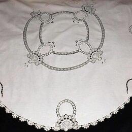 Скатерти и салфетки - Скатерть круглая, вышивка, кружево вязаное, 155 см., 0
