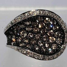 Кольца и перстни - Уникальное кольцо с натуральными серыми бриллиантами, 0