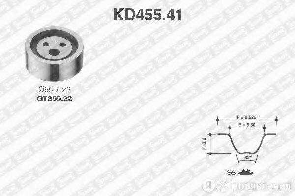 Комплект ремня грм SNR KD455.41 по цене 1992₽ - Запчасти , фото 0