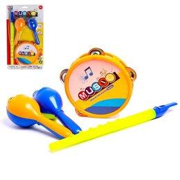 Детские наборы инструментов - Набор музыкальных инструментов «Оркестр», 4 предмета, 0