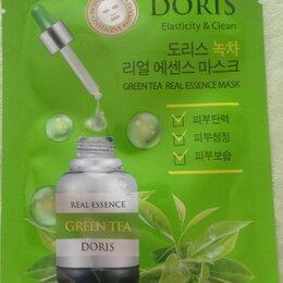Маски - Doris тканевая маска для лица с зеленым чаем green tea real essence 25мл, 0