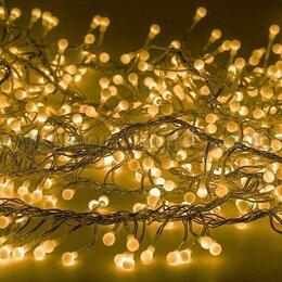 Ёлочные украшения - Гирлянда  3,0м мишура желтый цвет 288 диодов Neon-Night, 0