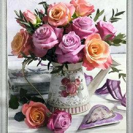 Картины, постеры, гобелены, панно - Букет роз Артикул : WB 5528, 0