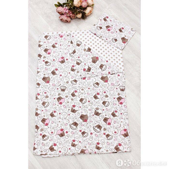 КПБ WB 1,5 сп, размер 150 × 210 см, 145 × 210 см, 50 × 70 см, розовый, десерт по цене 3080₽ - Постельное белье, фото 0