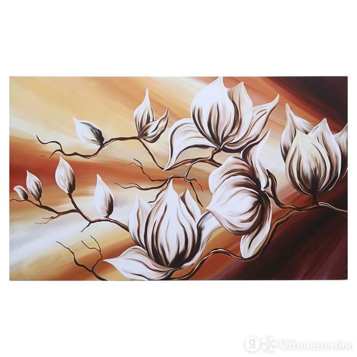 """Картина на холсте """"Пастельные магнолии"""" 60х100 см по цене 1397₽ - Картины, постеры, гобелены, панно, фото 0"""