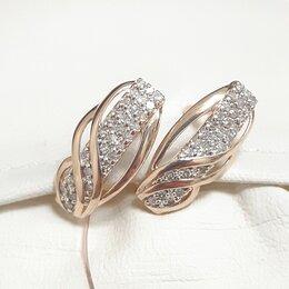 Серьги - Серьги с бриллиантами золото 585, 0