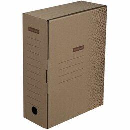 Расходные материалы - Короб архивный 100мм с клапаном OfficeSpace,  бурый  м/гофрокартон до 900л (50), 0