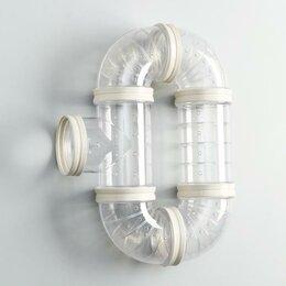 Игрушки и декор  - Лабиринт для грызунов 2, 6 элементов, прозрачный, 0