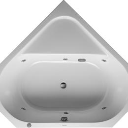 Гидромассажеры - Ванна гидромассажная Duravit D-Code 1400х1400 угловая,водный массаж, ножки,сл..., 0