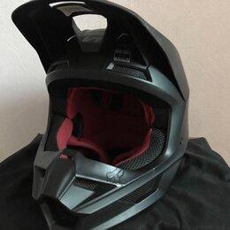 Мотоэкипировка - Шлем Fox V1 чёрный матовый, 0