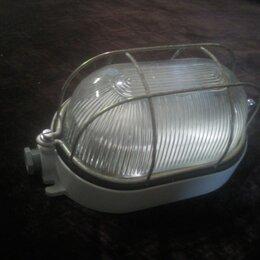 Люстры и потолочные светильники - Светильник нпб1402 белый/овал с реш. 60вт ip54 t, 0