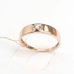 Кольца и перстни - Олотое кольцо с бриллиантом, 0
