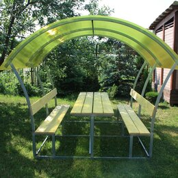 Комплекты садовой мебели - Беседки дачные со столиком и лавочками Рыбное, 0