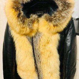 Куртки - Куртка зимняя натуральная с мехом лисы., 0