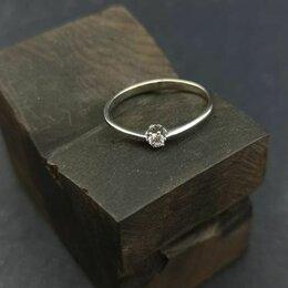 Кольца и перстни - Кольцо из платины с бриллиантом, 0