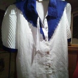 Блузки и кофточки - Белая блузка XXL, 0