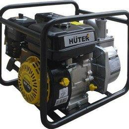 Мотопомпы - Мотопомпа бензиновая HUTER MP- 50 для слабозагрязненной воды [70/11/3], 0