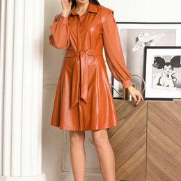 Платья - Платье 1318 LADIS LINE рыжее Модель: 1318, 0