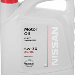 Масла, технические жидкости и химия - Масло моторное Nissan 5w-30. 5 литров. Оригинал., 0