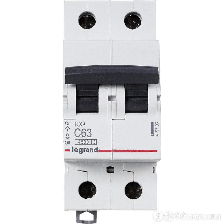 Автоматический выключатель модульный RX3 2П двухполюсный 63А C 4,5кA (419703)... по цене 770₽ - Концевые, позиционные и шарнирные выключатели, фото 0
