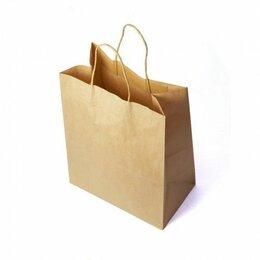 Пакеты - Пакет бумажный с кручеными ручками, ЭКО, 300х150х400 мм, крафт., 0