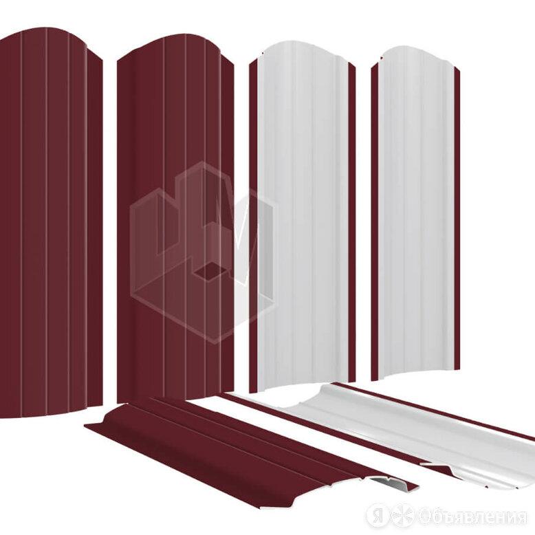 Штакетник для забора Полукруглый 110мм RAL3005 Красное вино высота 1.25 метр... по цене 141₽ - Заборы, ворота и элементы, фото 0