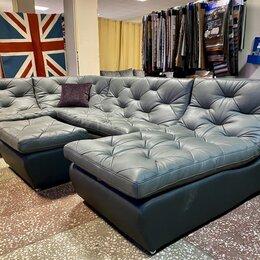 Диваны и кушетки - Модульный угловой кожаный диван релакс, 0