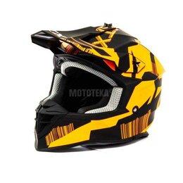 Спортивная защита - Шлем мото кроссовый GTX 633 (M) #5 BLACK/FLUO ORANGE, 0