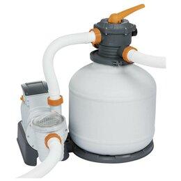 Фильтры, насосы и хлоргенераторы - Фильтр-насос для бассейнов песочный, 220-240V, 11355 л/час, 58486 Bestway, 0