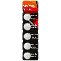 Батарейки - SMARTBUY Батарейка SMARTBUY CR2025 (таблетка) литиевая, BL5 , 0