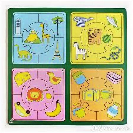 Игрушка развивающая: Пазл большой «Признаки» 0087 по цене 317₽ - Развивающие игрушки, фото 0