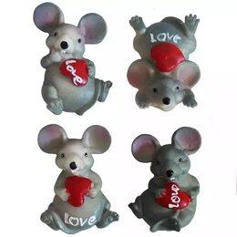 Игрушки-антистресс - Магнит мышонок с сердцем Love 5см 826A 1/20, 0