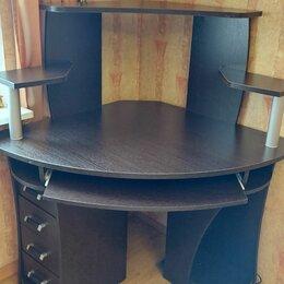 Компьютерные и письменные столы - Угловой компьютерный стол венге 98х98 см, 0