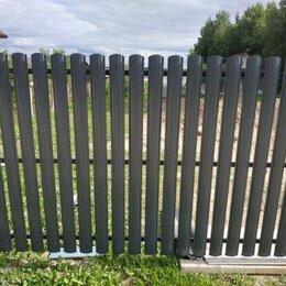 Заборчики, сетки и бордюрные ленты - Евроштакетник серый графит, 0