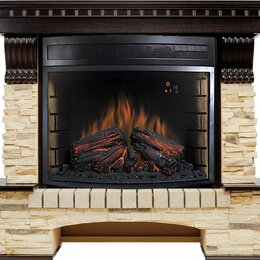 Камины и печи - Royal Flame Каминокомплект Pierre Luxe - Темный дуб / Сланец (Высота 1040 мм)..., 0